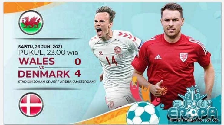 hasil denmark vs Wales
