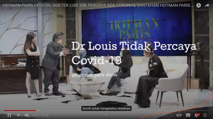 Dr Louis Tidak Percaya Covid-19